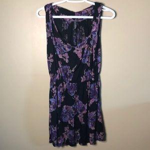 Free people sleeveless floral pleated mini dress